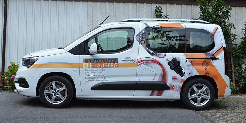 Autobeklebung für einen Elektriker