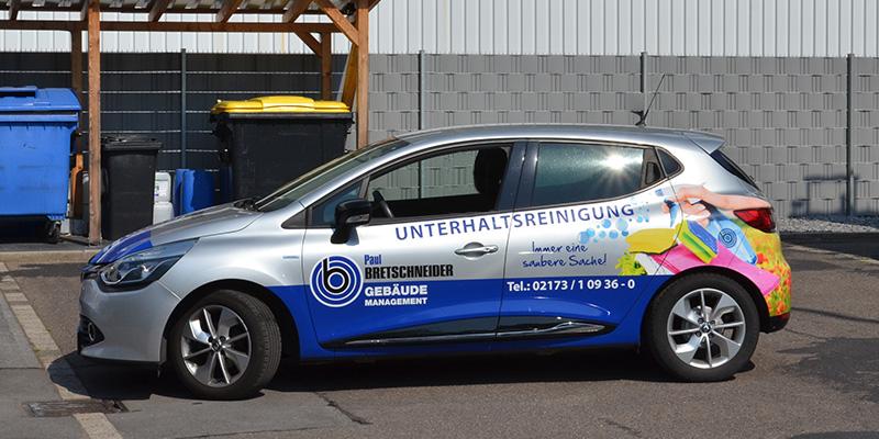 Autogestaltung Kleinwagen Unterhaltsreinigung