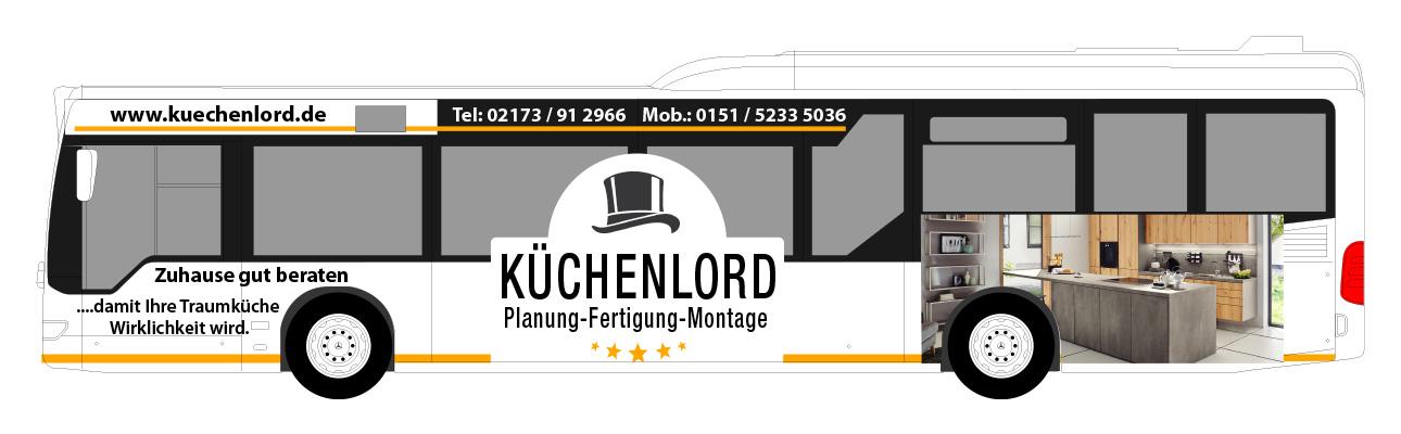 Busgestaltung - Buswerbung für den Küchenlord