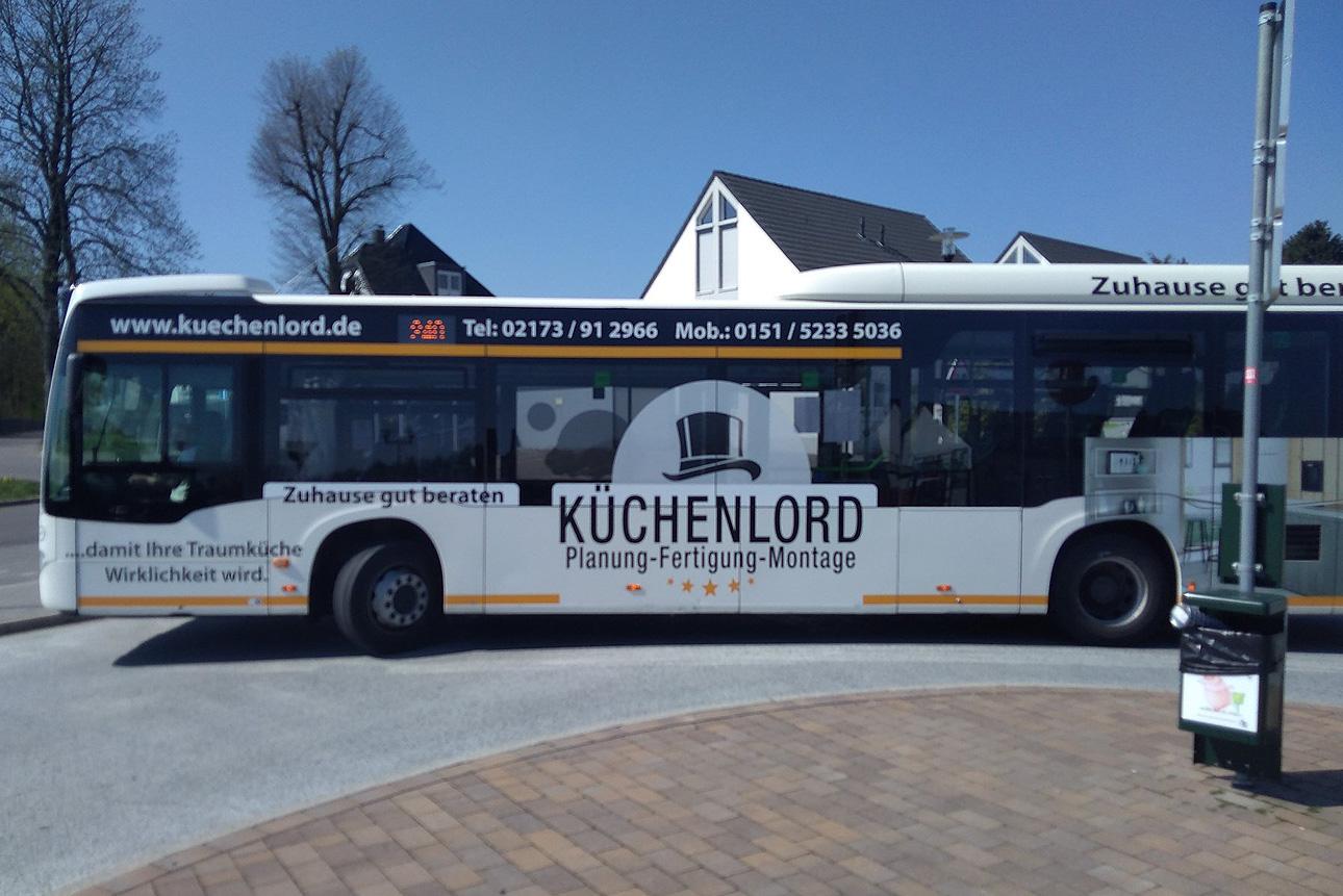 Buswerbung für den Küchenlord