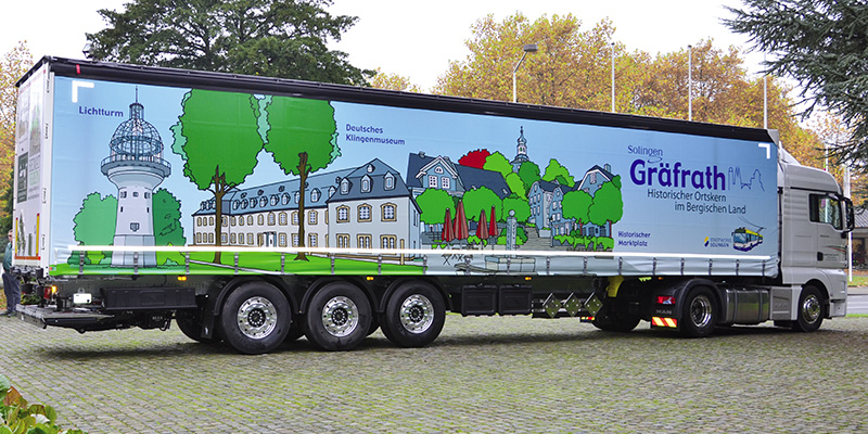 Design für LKW Plane Gräfrath Truck