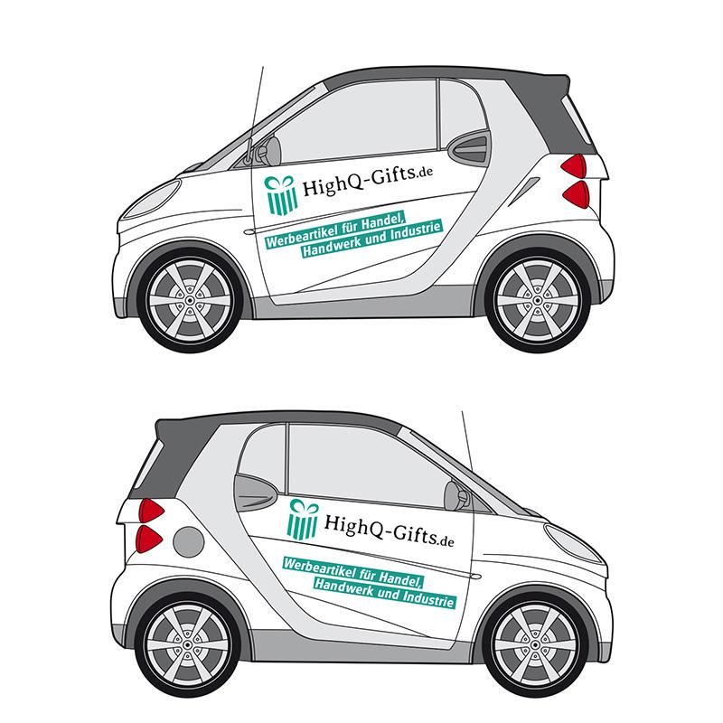 Preiswerte Fahrzeuggestaltung - Beispiel Smart