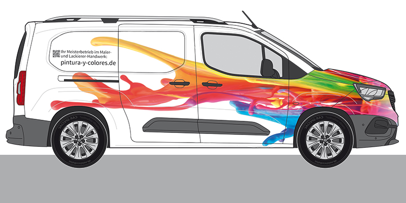 entwurf firmenwagen beklebung maler lackierer mit wow effekt